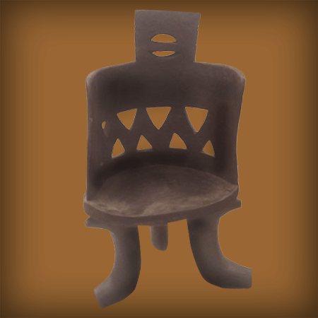 HAND CARVED CHAIR W/curved Back