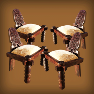 Set of four Ethiopian Stools